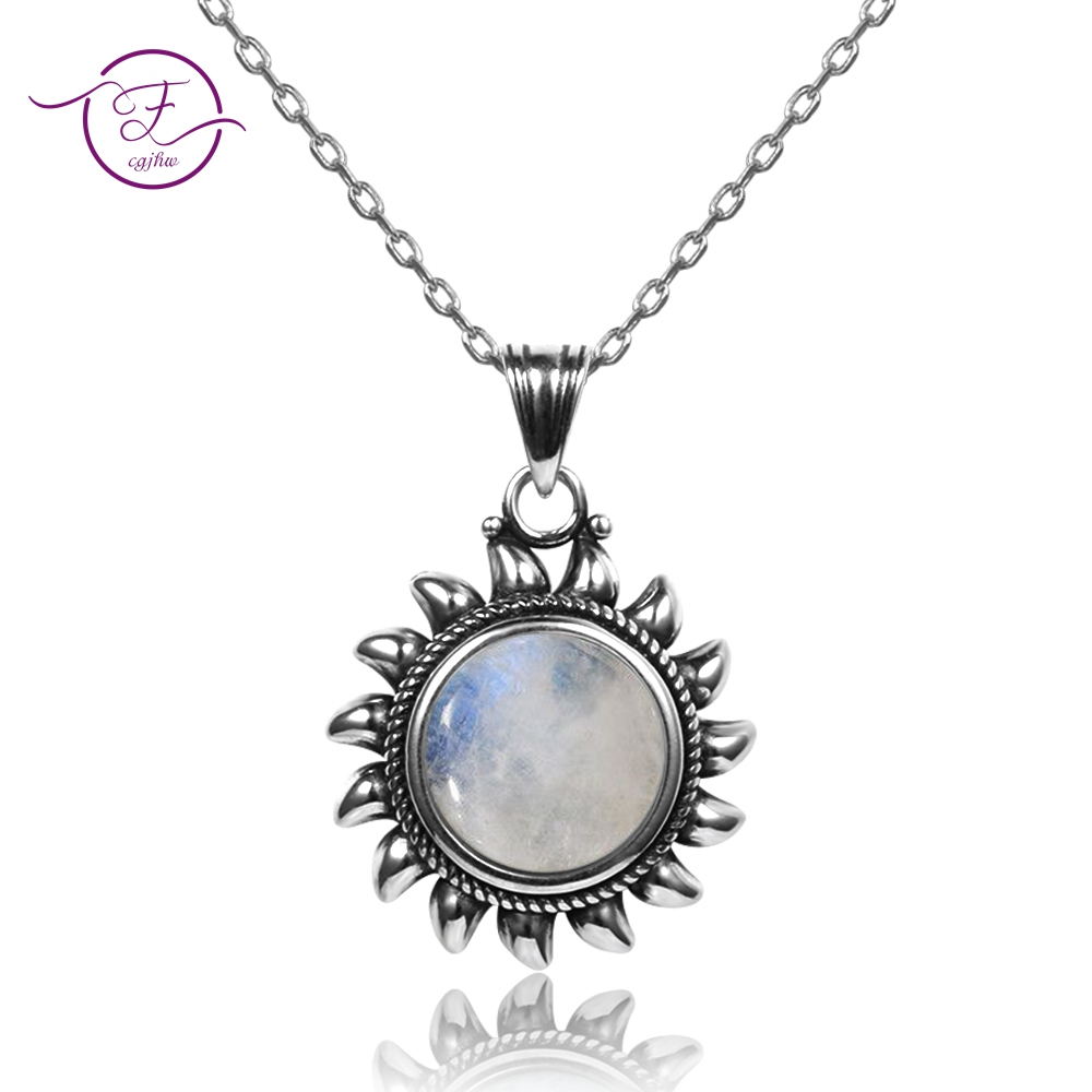Original Design Sun Pendants Necklaces 925 Sterling Silver Jewelry Necklace For Women Men Popular Fine Party Gifts Wholesale