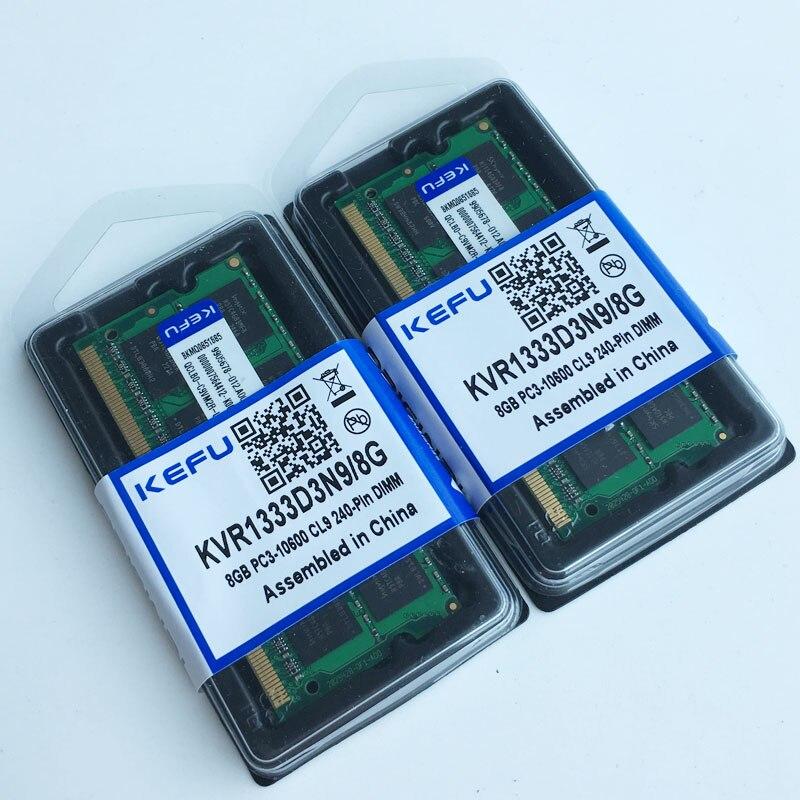 16 GB 2X8 GB DDR3 PC3-10600 1333 mhz 204-pin Sodimm MÉMOIRE Portable Ordinateur Portable Mémoire RAM 1333 MHZ faible densité Non-Ecc pleine testé