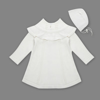 New 2017 Spring Autumn Girl Princess Sweater Dress Knitted Cute White Baby Dress Kids Red Dress