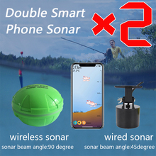 Portable Double Sonar Fish Finder Bluetooth Wireless Depth Sea Lake Fish Detect Echo Sounder Sener Fish Finder IOS Android