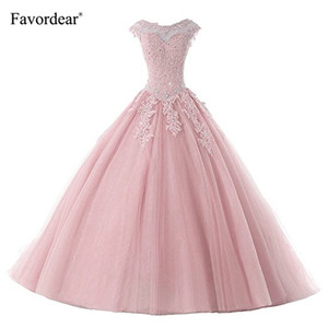 Image 1 - Favordear avordear nowa kolekcja Quinceanera 15 lat Vestidos De 15 Anos na szyję Blush Quinceanera sukienki