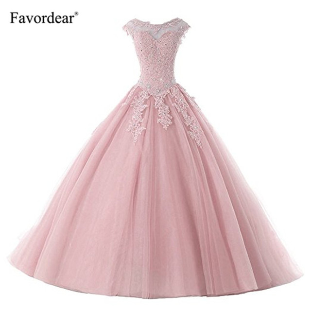 Favordear avordear nowa kolekcja Quinceanera 15 lat Vestidos De 15 Anos na szyję Blush Quinceanera sukienki