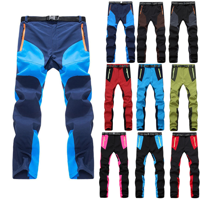 a742489522 Man Winter Skiing Pants -30 Degree Waterproof Camping Outdoor Women Hiking  Pants Climbing Fishing Softshell