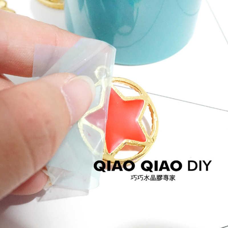 4cm * 5m bez śladu Expoy UV żywica papier samoprzylepny taśma do metalu pusta ramka biżuteria diy otwarta ramka ustawienie pomocnika narzędzie Char
