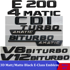 3D Matt Black W212 213 Car Emblem E350 E320 E250 E300 E220 E200 E280 E63 E CLA Emblema Badge Sticker Logo For Mercedes Benz AMG