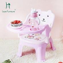 Louis модные детские стулья для столовой с подносом на спине вызова детский пластиковый стул