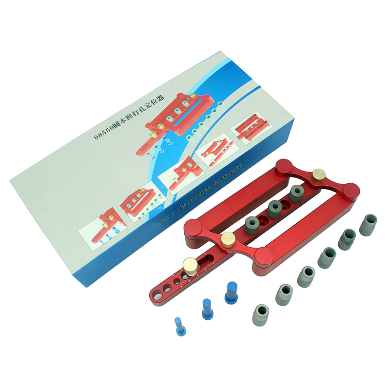6/8/10mm Autocentrante Dowelling Jig Set Metric Tassello di legno di Perforazione Utensili A Mano Set Lavorazione Del Legno Strumento di Potere
