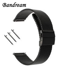 Bracelet milanais boucle papillon bracelet pour Diesel fossile Timex Armani DW CK bracelet de montre ceinture inox 18mm 20mm 22mm