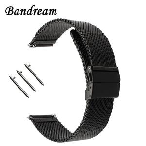 Image 1 - Milaneseผีเสื้อสายคล้องคอสำหรับดีเซลFossil Timex Armani DW CKนาฬิกาเข็มขัดสแตนเลส18มม.20มม.22มม.