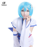 Rolecos Re Life In A Different World From Zero Rem Ram Cosplay Costumes Blue Pink Lolita