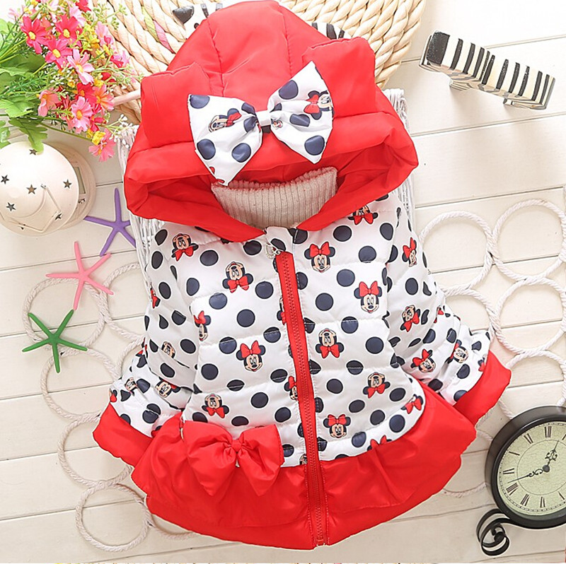 Girls Boys Jackets Baby girls Minnie Mickey Cotton Children Clothing Coat Boys boys Winter Warm Outdoor Clothing Kids Hooded Jackets