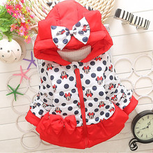 Girls Boys Jackets Baby girls Minnie Mickey Cotton Children Clothing Coat Baby boys Winter Warm Outerwear Kids Hooded Jackets