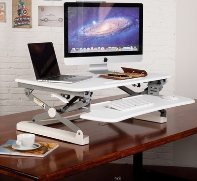 Loctek M1L EasyUp Height Adjustable Sit Stand Desk Riser Foldable Laptop Desk Notebook/Monitor Holder Stand With Keyboard Tray