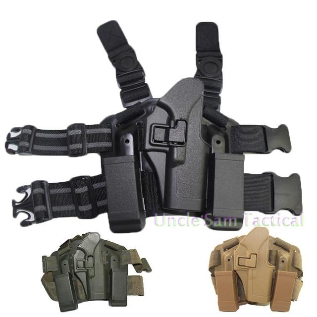 Tactical CQC Glock Leg Holster Military Combat Thigh Holster Hunting Shooting Gun Holsters For Glock 17 19 22 23 31 32 1