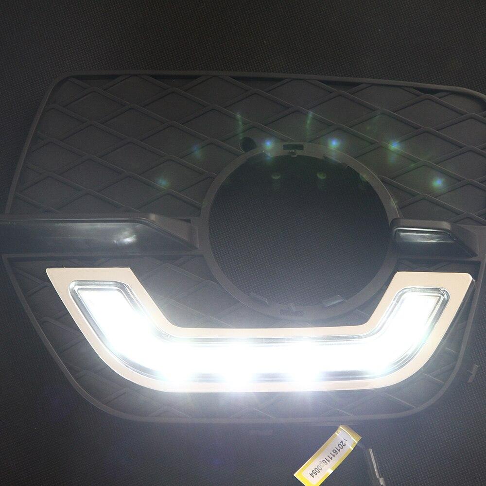 2 peças para bmw e71 x6 suv 2008 2009 2010 2011 2012 2013 2014 m sport led luz de circulação diurna para led drl nevoeiro lâmpada - 6