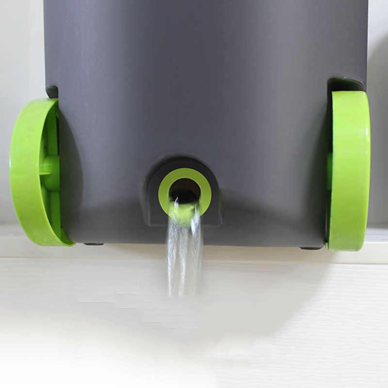 UNIÃO MÁGICA Mop Limpo Dual-drive Conjunto Com Cabeças Mop Mão Mop Pressão Balde Com Rodas Casa Chão Do Escritório ferramentas de limpeza Mop