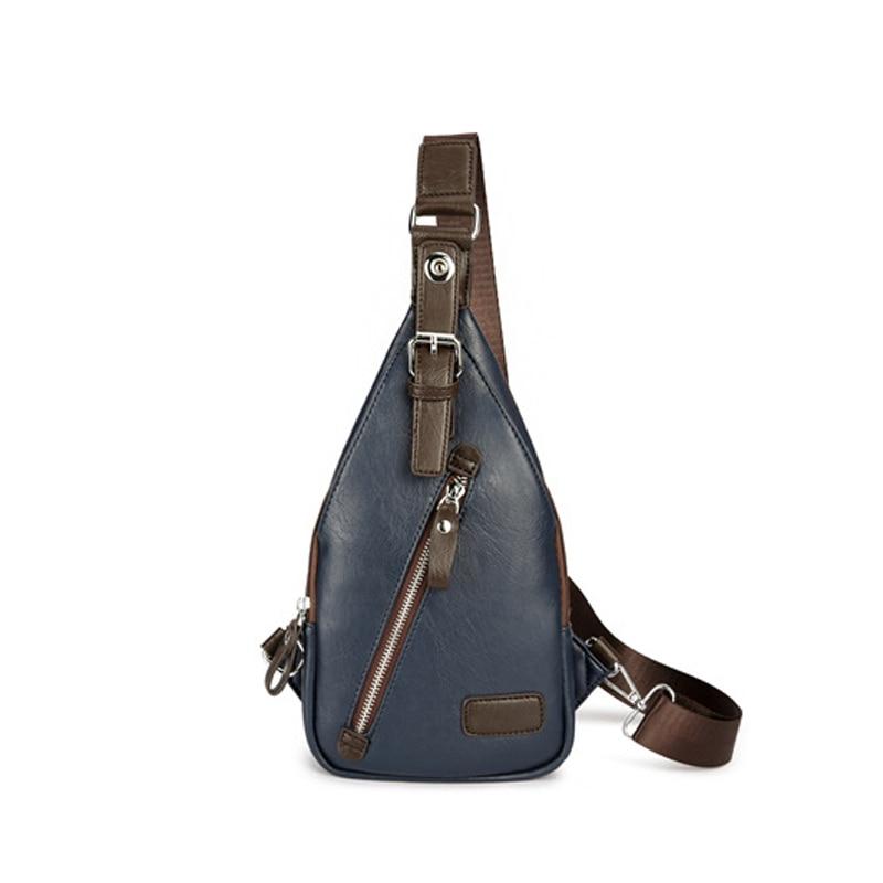 2018 New Summer Man Messenger Bag Casual Travel Chest Bag Handbag Leather Crossbody Back Pack Mens Vintage Sling Shoulder Bag