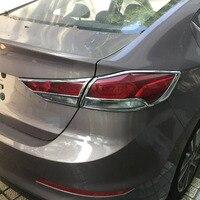 Car Exterior Accessories ABS Chrome Taillight Cover For Hyundai For Elantra 2016 Avante 2015