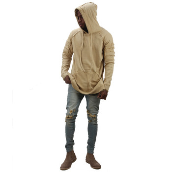 HEYGUYS new design hoodie ripped damage men color fashion sweatshirts brand original design casual pullover  autumn hip hop