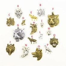 20Pcs Wholesale Bulk Jewelry Findings Components Tiger Head Diy Accessories Female HK038