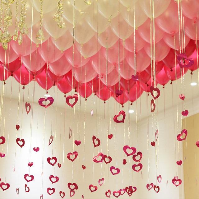 100pcs Love Card Pendant Wedding Marriage Room Arrangement Balloon Background Wall Decor Valentine S Day