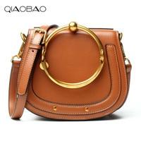 QIAOBAO 2017 Hot Sale Popular Fashion Brand Design Women Genuine Leather Cloe Bag High Quality Real