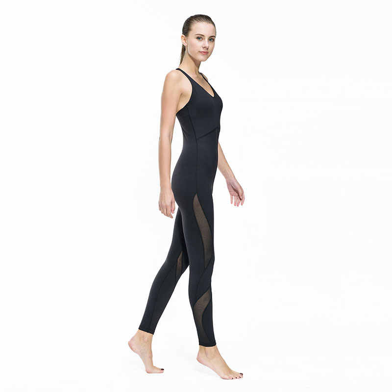 74800860dfc5 ... Women Fitness Yoga Set Gym Sports Running Jumpsuits Jogging Dance  Tracksuit Breathable Quick Dry Spandex Sportswear ...