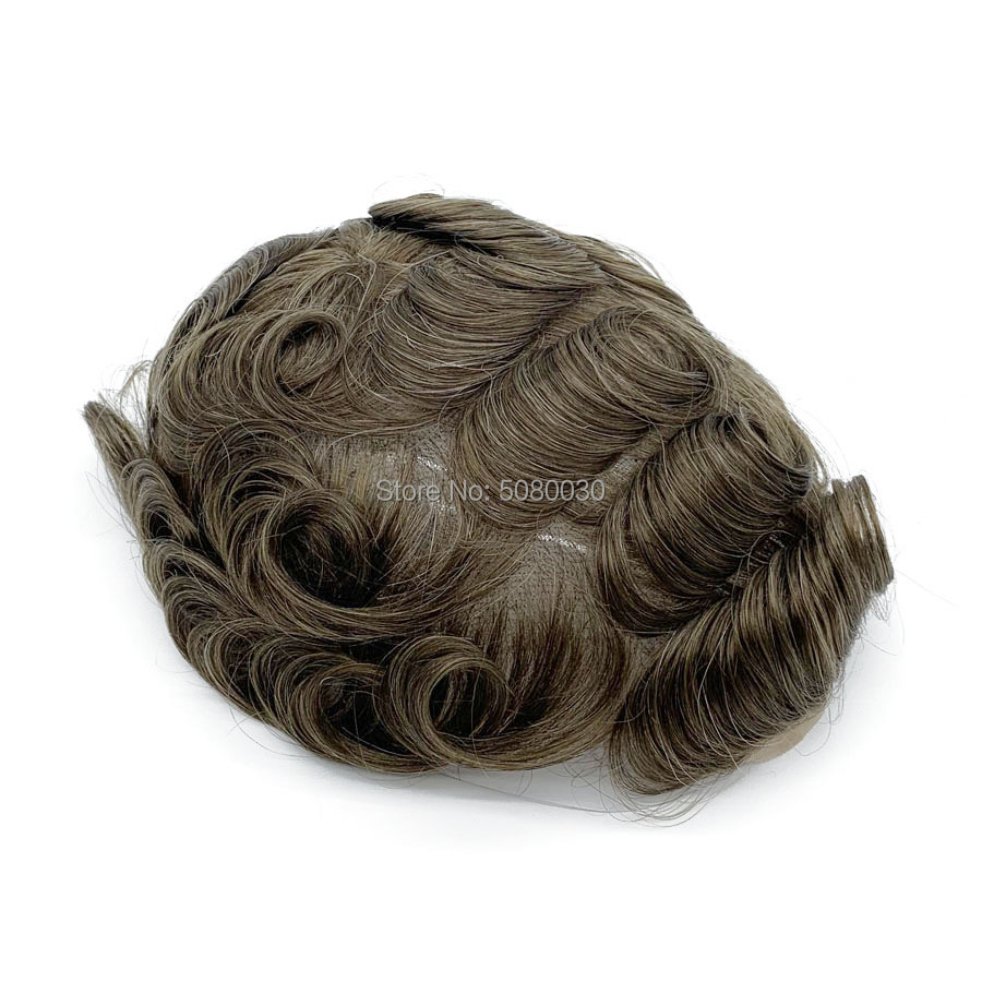 Hairpiece toupee Natural Hairline Full Swiss Lace Base Blonde Color toupee