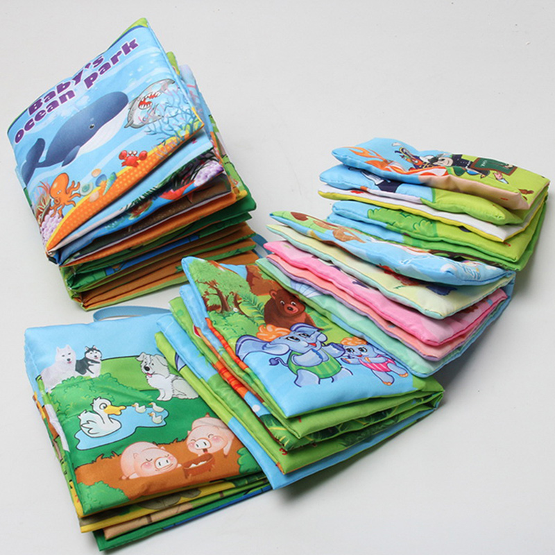 6 Style English Soft Fabric Cloth Book 0~12 Months Juguetes Bebe Brinquedos Para Bebe Learning Education Baby Book Toys Lbt_002