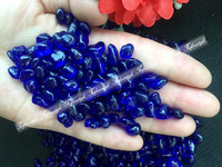 Wholesale 500g/1000g 5 8mm K5 cobalt blue Glass Gravel Stones Polished Rock Aquarium Fish Tank stones and minerals Colored Glaze