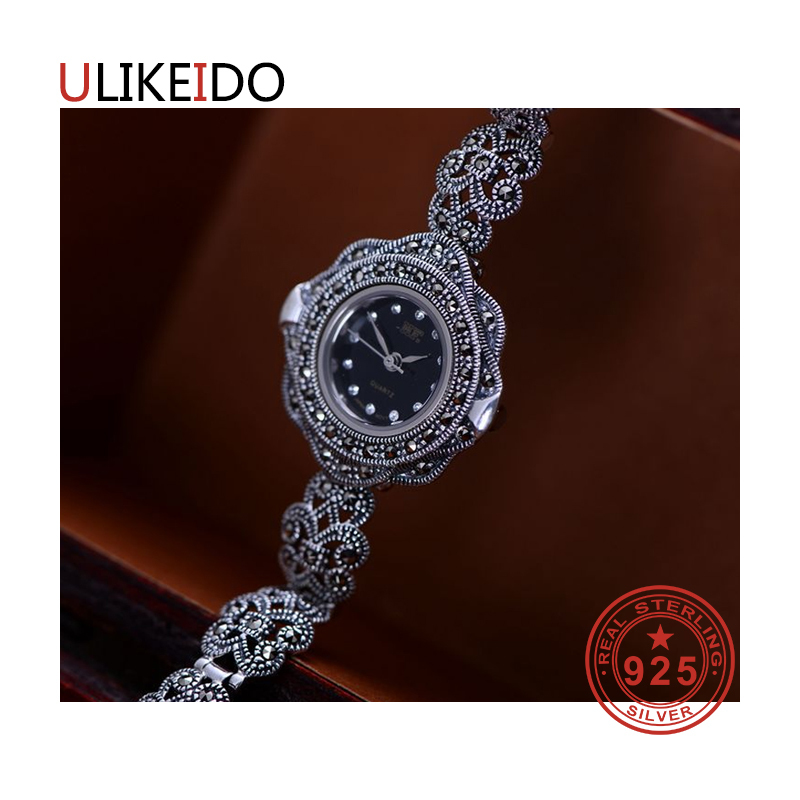 100% Pure 925 Sterling Silver Watch Men Fashion Hand Chain For Women Thai Silver Jewelry Charm Bracelet Homme 1508 925 sterling silver mens bracelets fashion domineering classic hand chain for men and women special jewelry charm bracelet 267