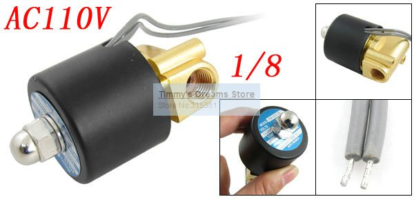 1x Free Shipping 110VAC 1/8 Electromagnetic Solenoid Valve for Train Water Air Pipeline 2W025-06 1 2 built side inlet floating ball valve automatic water level control valve for water tank f water tank water tower