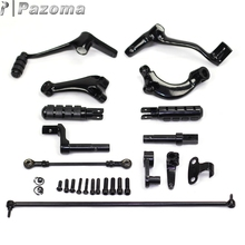 PAZOMA Motocross Forward Controls Control Kit Footpegs For Sportster Roadster-XL1200R 2004-2006  (EFI) - XL1200R 2007-2008