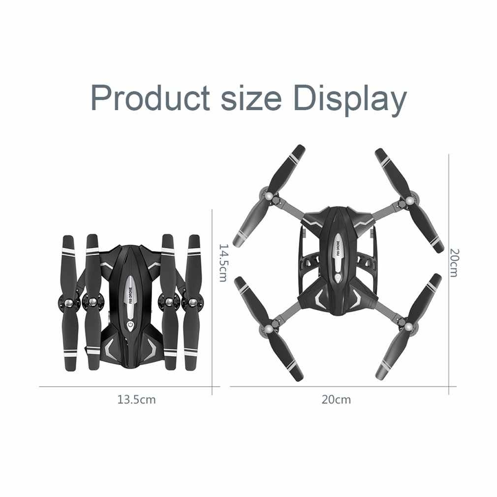 F69 Foldable RC Drone WIFI FPV 1080P/480P Wide Angle HD Camera Altitude Hold Headless Mode RC Helicopter Model with 2/3 Battery