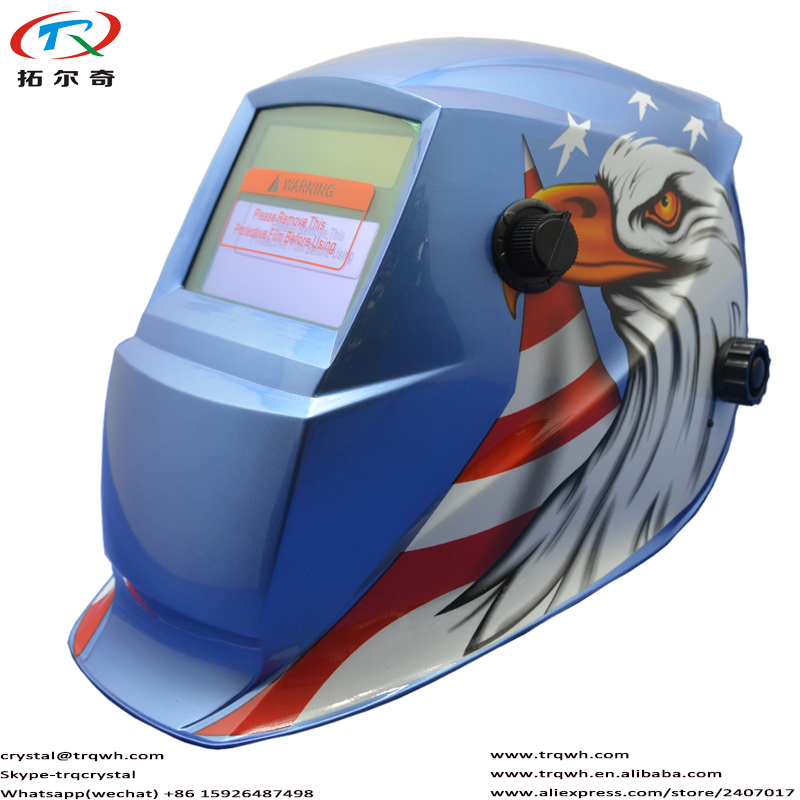 Trqwh Fast Shipping Blue Bird Design Grinding Function Tig Mig Arc Mag Welding Helmet Auto Darkening Filter Lens Trq-gd04-2233ff Welding & Soldering Supplies Tools