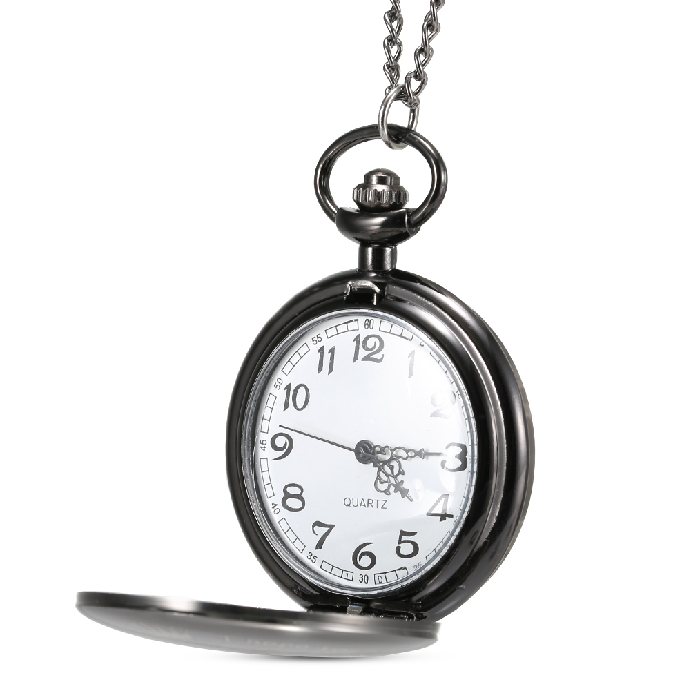 1 Pcs Men Women Quartz Pocket Watch Meaningful Gifts For All & To My Brother Letter Printed Case With Chain LL@17