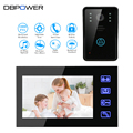 "7"" TFT Touch Screen TFT Color 1000TVL Video door phone Intercom Doorbell IR Camera Doorphone Monitor Speakerphone Intercom"