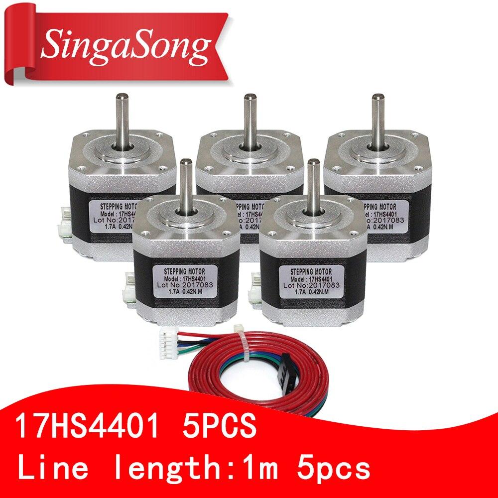 3d impresora motor 4 Plomo Rectangular Nema17 Stepper Motor 42 motor Nema 17 motor 42 BYGH 1.5A (17HS4401) motor para CNC XYZ