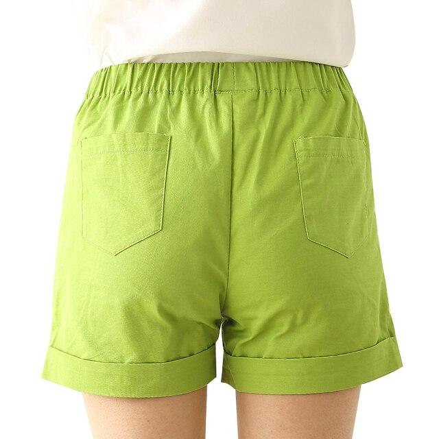 2021 Summer Hot Fashionable Biker Short Candy Color Casual Beach Black Shorts Women Plus Size Loose Cotton Neon Female Shorts 2