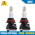 2x 160W 16000LM 9007 HB5 LED Headlight Conversion Kit High/Low Beam Bulbs 5700-6000K Car Truck Replacement Super Bright Headlamp