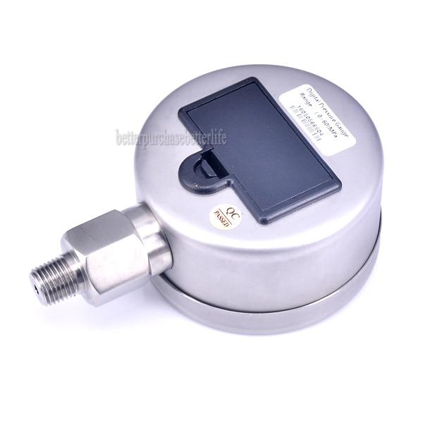 Manomètre numérique à boîtier métallique alimenté par batterie de haute qualité, 0-60Mpa NPT1/4 0.25% 3 unités