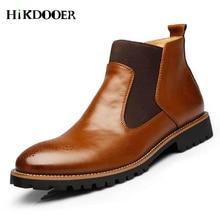 Men rubber rain boots fashion black chelsea boots slip-on waterproof ankle boots lovers rainboots botas men leather shoes цена
