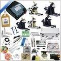 Kit de Tatuaje profesional Completa 5 Pistolas de Rotary Equipo de La Máquina de juegos + tinta + fuente de Alimentación + Aguja + CD para Principiantes Arte Corporal # T