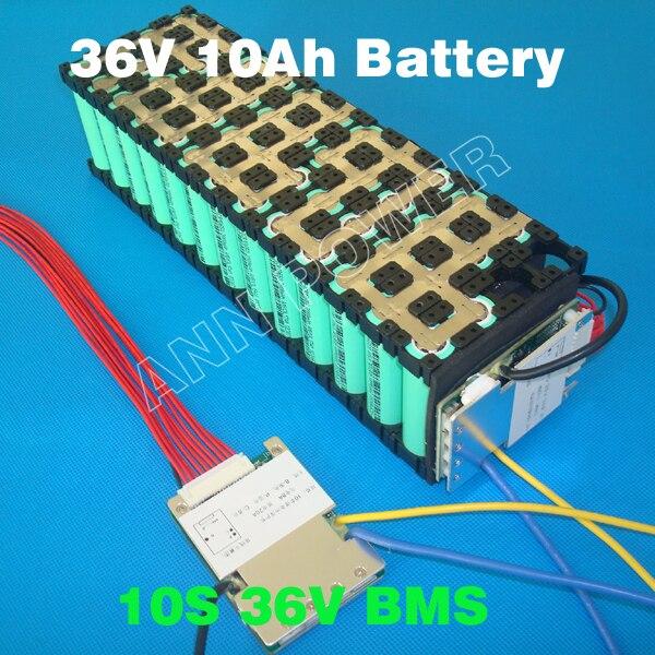 Conjunto de Bateria s 36 v 10a/15a bms Tamanho : L70*w51.5*11mm