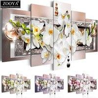 Zhui Star 5d Diy Diamond Embroidery Orchid Flower Diamond Painting Cross Stitch Full Rhinestone Mosaic Multi