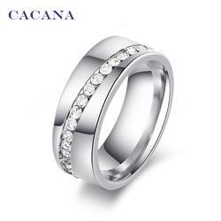 2016 CACANA кольцо женское со стразами серебряное