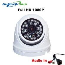 IPC 1920*1080 p Detección de Movimiento WDR Bala Impermeable de Interior/Uso Al Aire Libre H.264 P2P ONVIF 2MP CCTV IP cámara Audio NuMenworld