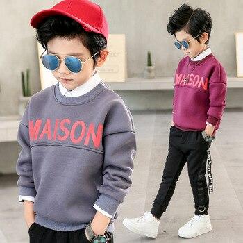 Boys Sweatshirts Long Sleeve Cartoon Letter Shirt for Boys Children T Shirts Cotton Boys Tops 2018 T Shirt Kids Kids Clothing
