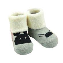 Thick Warm Animal Terry Socks for Children Autumn Winter Baby Socks Cotton Baby Cartoon Sock 0-12 Months
