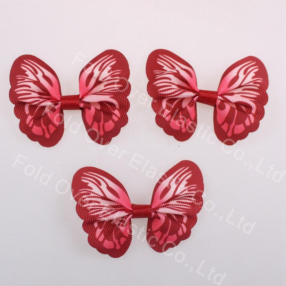 200 pcs/paquet noeud papillon ruban rouge noeud papillon